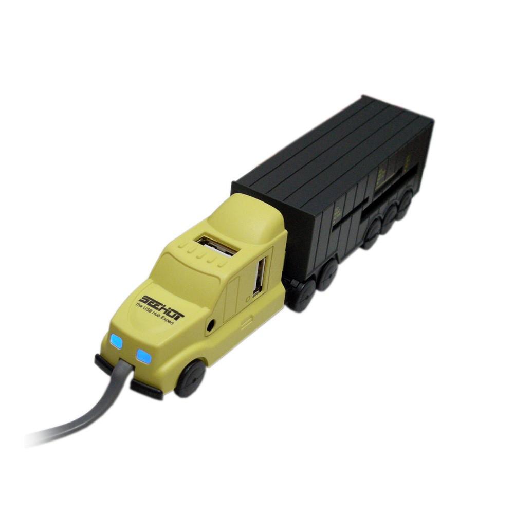 〈SEEHOT〉4埠USB HUB & 77合1 讀卡機─貨櫃車造型(SH-C1608)