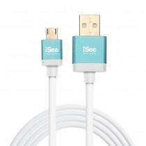 〈iSee〉鋁合金USB充電/資料傳輸線2米 (IS-C82)