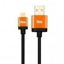 〈iSee〉Type-C to A 充電/資料傳輸線1.2米 (IS-CA310)不挑色【包裝完整*庫存出清*產品皆可正常使用】