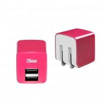 〈iSee〉雙口USB快充充電器 (IS-UC25)【包裝擠壓/污損*產品皆可正常使用】